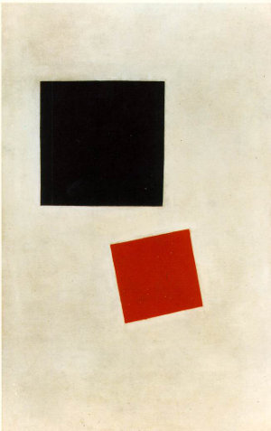 Malevich black red square